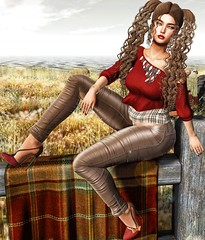 Bitter Sweet (eloen.marie) Tags: eloensotherworld fabia aulovely cosmopolitan roawenwood blueberry mosquitosway justice secondlife autumn fall girly ponytail releases avatar