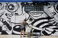 MAC Blackout #sleepingvillage (drew*in*chicago) Tags: chicago 2018 street art artist paint painter graffiti tag mural outdoor cityscape
