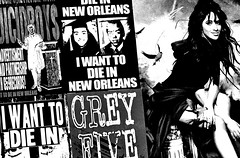 I want to die (draketoulouse) Tags: chicago new orleans neworleans city blackandwhite monochrome bw poster advertisement street streetphotography record label