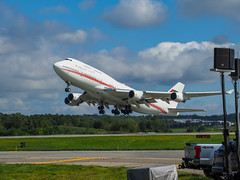 UAE 747 taking off at the New York Airshow (jay12472) Tags: boeing 747 passenger privatejet united arab emirates dubai new york airshow