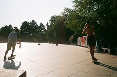 Skaters in Prague (zuziawie) Tags: minolta himatic g 35mm 35 skate park skating skaters skatepark prague czech praha europe people film analogue analog atmosphere