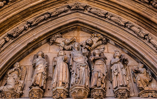 Carved Figures (Apostles Doorway - Valencia Cathedral) (Panasonic TZ200 Travel Compact Travel Zoom) (1 of 1)