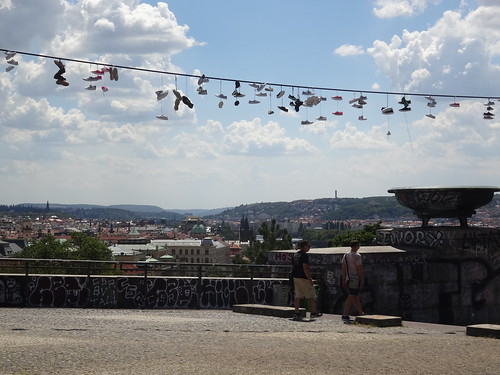 Prague Shoe Flinging