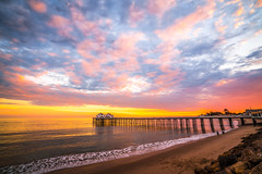 Malibu Pier Sunset! Red Orange Yellow Malibu Beach Fine Art Landscape Seascape Photography: Sony A7RII Pacific Ocean Nature : Brilliant California Ocean Colorful Clouds Long Exposure Water Reflections! Carl Zeiss Sony T* FE 16-35mm f/4 ZA OSS 8K Res! (45SURF Hero's Odyssey Mythology Landscapes & Godde) Tags: malibu pier sunset red orange yellow beach fine art landscape seascape photography sony a7rii pacific ocean nature brilliant california colorful clouds long exposure water reflections carl zeiss t fe 1635mm f4 za oss 8k resolution
