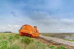 Life Raft (Charlie Little) Tags: barrowinfurness roaisland boats life raft orange sony a7 fullframe