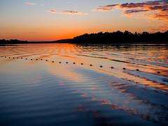 at sunset (marinachi) Tags: oka river sunset evening water sky blue orange black painterly sundaylights