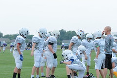 _G1A6550 (bubbaonthenet) Tags: 08232018 practice 6 stma community education 6th grade youth tackle football team 1 white saint michael minnesota 2018 middle school sport sports