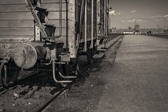 The Train for Hell (Roberto Pazzi Photography) Tags: place secondworldwar poland birkenau auschwitz nazi blackandwhite culture history train concentrationcamp nobody outdoor
