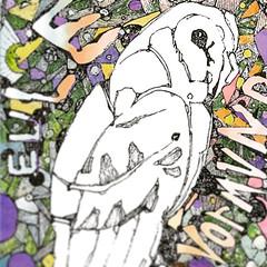 Detail of Eule Yormund (www.ruffrootcreative.com) Tags: boscombe bournemouth bpdbournemouth bpdasfuck boscombecommunityfair illustration drawing outsiderartist outsiderart rawartbournemouth ruffrootcreative watercolour eule painting acrylic bird avian creative southbourne