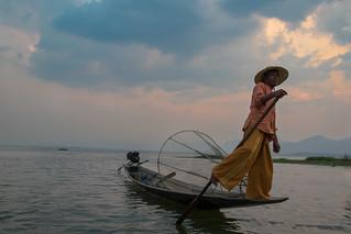Fisherman on Inle Lake - Burma - Myanmar