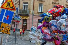 Serious Balloons 🎈 (Andrii Mur) Tags: countries ukraine lviv balloons streetphotography