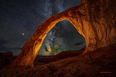 Corona Arch Milky Way (McKendrickPhotography.com) Tags: coronaarch moab utah milkyway stars clouds nightsky nightscapes desert southwest