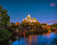 Expedition Everest | Disney's Animal Kingdom (Pandry 2015) Tags: color mountain disneyphotography disneyparks florida orlando canon6d canonusa rollercoaster disney themepark sunset dusk expeditioneverest everest disney'sanimalkingdom disneyworld waltdisneyworld wdw