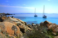 The boats (annalisabianchetti) Tags: boats barche seascape sea rocks rocce mare corsica corse water paesaggio landscape beautiful travel