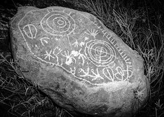 Rosetta Stone (dwblakey) Tags: california blackandwhite petroglyphs monochrome easternsierra bishop history outdoors archaeology inyocounty paiute rockart rocks unitedstates us