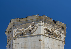 Tower of the Winds (Kyrrhestos' Clock) - Roman Agora - Athens, Greece (Ava Babili) Tags: athens greece antiquity archaeology archeology building architecture romanagora romanforum roman relief wind winds waterclock