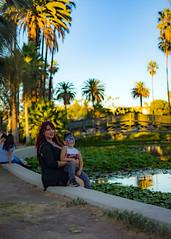 Echo Park (hugonjuarez) Tags: echo park lake los angeles downtown california summer trees outdoor fountain skyline