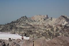 Below was the actual crater of Lassen Peak (rozoneill) Tags: lassen volcanic national park peak hiking california volcano