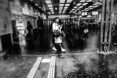 Avant les retrouvailles (LUMEN SCRIPT) Tags: urban urbanphotography publicspace underground metro citylife citypulse city people paris blackandwhite streetphotography street monochrome woman smmartphone rush blur softfocus mood atmosphere emotion social station