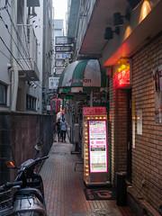 Kawasaki alley (kasa51) Tags: alley sign people street kawasaki japan