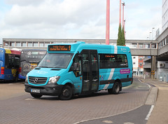 Arriva Kent Thameside / Arriva Southern Counties . 1015 BF67WGN . Harlow Bus Station , Essex . Wednesday 19th-September-2018 . (AndrewHA's) Tags: essex harlow bus station arriva kent thameside southern counties mercedes benz sprinter 45 minibus 1015 bf67wgn town service route 9 potter street passenger transport