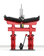 Cyberpunk Ninjago Miyajima Tori (LDD Building Instructions) by  Talebuilder (Repubrick.com) Tags: repubrickcom buildinginstructions lego ldd japanese tori cyberpunk ninjago miyajima