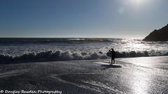 Surfer at Rodeo Beach (Douglas Bawden Photography) Tags: douglasbawdenphotography surfing rodeobeach marincounty ggnra pacificocean californiacoast canonprofessional 16x9crop teamcanon canonusa beach coastline