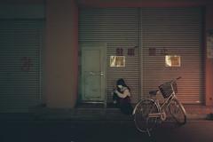 Somewhere in Osaka (Laser Kola) Tags: streetphotography explorejapan lostinosaka osaka japan nightlife nightphotography nightlights bladerunner cyberpunk cinematic cinematography cinematographer fujifilm x100s alone japanesegirl asiangirl jitensha bicycle darkstreet somewhereinosaka 2016 neoncity moody laserkola lasseerkola candid