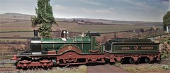 Lord of the Isles Steam Locomotive. (ManOfYorkshire) Tags: triang hornby scale model railway train engine steam loco locomotive lordoftheisles great western tender 422 dean single mixedtraffic diorama