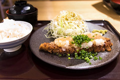 Gyukatsu(Beef Katsu) (Synghan) Tags: beef gyukatsu dish plate rice vegetable meat gyu delicious restaurant eating palatable interesting awe wonder leek cuisine food meal meals foods cook cooking photography horizontal indoor colourimage fragility freshness nopeople foregroundfocus adjustment vivid swallow famousfood japan japanesefood asianfood kyoto katsu canon eos80d 80d sigma 1770mm f284 dc macro lens 규까스 규카츠 소고기까스 일본음식 일본 일식 교토 카츠