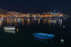 Sliema (Gianluca Isidoro) Tags: malta sliema barche porto harbor boats refelctions night lights skyline nikon d750