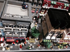 LEGO street (craigslegostuff) Tags: lego modular street city town mini fig minifig minifigs figure minifigure figures wine bar ariel arial view drone moc mocs building buildings road shop business 16 32 16x32 32x16 creator series modularbuilding figs minifgures collectible collectibleminifigures cmf interior exterior floors mod mods collectibleminifigs collectibleminifig modified roads design designer expert streets legostreet captainamerica marvel superhero afol