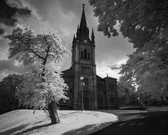 Stormy (Edd Noble) Tags: ir infrared infraredphotography samyangfe24mmf28 sonya7 converted infraredconversion gothenburg göteborg sweden scandinavia church blackandwhite blackwhite 720nm