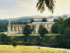 Bolton Abbey in Wharfedale Yorkshire. (Bennydorm) Tags: craven 12thcentury green luglio julio juillet july iphone6s inglaterra inghilterra europe angleterre uk gb britain england yorkshire picturesque rural scenic boltonabbey historic abbey