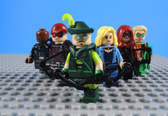 Green Arrow Family (-Metarix-) Tags: lego super hero minifig dc comics comic black canary team red arrow green arsenal connor hawke family rebirth universe pre new 52