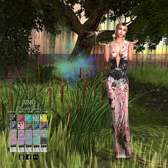 LuceMia - JUMO at Swank Event (2018 SAFAS AWARD WINNER - Favorite Blogger - MISS ) Tags: swankevent jumo rhyatt gown hair event sl secondlife mesh fashion creations blog beauty hud colors models lucemia