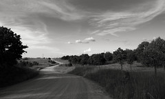 Country Road (Photographs By Wade) Tags: osagecounty oklahoma country rural road gravelroad grassland trees clouds sky