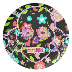 Cute colorful floral skull melamine plate (Present gifts) Tags: cute colorful floral skull melamine plate