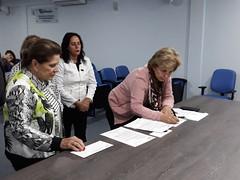 17/09/18 - Visita ao Centro de Oncologia da Liga Feminina de Combate ao Câncer de Canoas. Com a presidente Dilma Biazus e equipe.