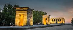 Egypt in Madrid (Ignacio Ferre) Tags: madrid españa spain arquitectura architecture building edificio temple templo egipcio egipto nikon sunset puestadesol panorama templodedebod debodtemple egypt egyptian