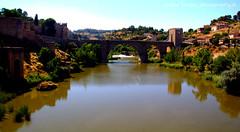 Toledo,RIver Tajo.Spain (gilmavargas) Tags: river water sky spain toledo oldbridge bridge landscape landmark madrid europa old tree park puente
