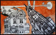 Collage 1 / Detmold (Marvin Drechsler) Tags: collage detmold kirche ente citrön citroen 2cv stadtvilla