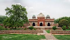 Mosque of Isa Khan Niyazi (marko.erman) Tags: niyazi india mughal octogonal garden decorated sandstone mosque monument architecture wide angle isakhan newdelhi shershan humayanstombcomplex unesco worldheritagesite