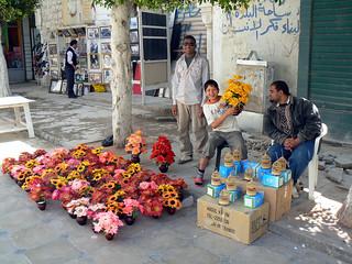 Street vendors in Benghazi, Libya