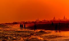 Sunset - Turkey (radomirmor) Tags: sunset belek turkey sea sky 6d canon sigma 150600c mbpictures beach people water city sand waves
