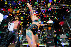 Party @ Festival 2018 (zilverbat.) Tags: zilverbat party citylife pin denhaag dutchholland visit peopleofthehague canon candid candidphotography innercity image urbanvibes urbanlife confetti people portrait portret sexy timelife leather bokeh girl show stage podium colors vintage retro rieneke gekste