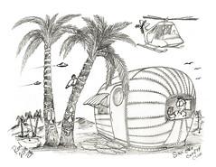 Sink Hole Country Club (rod1691) Tags: myart art sketchbook bw scfi grey concept custom car retro space hotrod drawing pencil h2 hb original story fantasy funny tale automotive illustration greyscale moonpies sketch sexy voodoo golf countryclub
