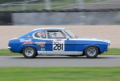 1974 Ford Capri 3000cc - David Thomas - CSCC Swinging Sixties 2018 - Donington Park (anorakin) Tags: 1974 ford capri 3000cc davidthomas cscc swingingsixties 2018 doningtonpark