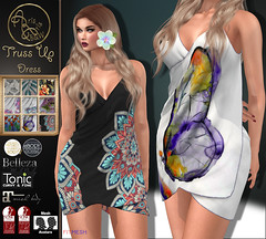 99L-60%Off Promotion***ArisArisB&W~Truss Up Dress~Change Hud (ArisArisB&W - Ariadna Garrigus & Ayrton Radikal) Tags: dress body suit mesh satin vintage retro embroidery lace promotion promo bow maitreya slink tonic 50s 60s sexy pant top jumpsuit rompersuit pinup tmp secondlife