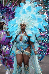 DSC_8231 Notting Hill Caribbean Carnival London Exotic Colourful Blue Costume with Ostrich Feather and Pearl Headdress Girls Dancing Showgirl Performers Aug 27 2018 Stunning Ladies Big Beautiful Woman BBW (photographer695) Tags: notting hill caribbean carnival london exotic colourful costume girls dancing showgirl performers aug 27 2018 stunning ladies blue with ostrich feather pearl headdress big beautiful woman bbw